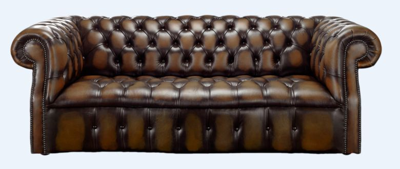 Chesterfield Darcy 3 Seater Antique Brown Leather Sofa Offer