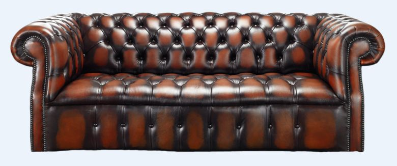 Chesterfield Darcy 3 Seater Antique Light Rust Leather Sofa Offer