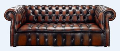 Chesterfield Darcy 3 Seater Antique Rust Leather Sofa Offer