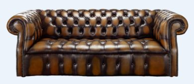 Chesterfield Darcy 3 Seater Antique Tan Leather Sofa Offer