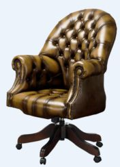 DesignerSofas4U | Olive leather Directors Chesterfield office chair