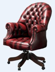 DesignerSofas4U | Autumn Tan leather Chesterfield office chair