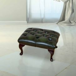 Chesterfield Queen Anne Footstool UK Manufactured