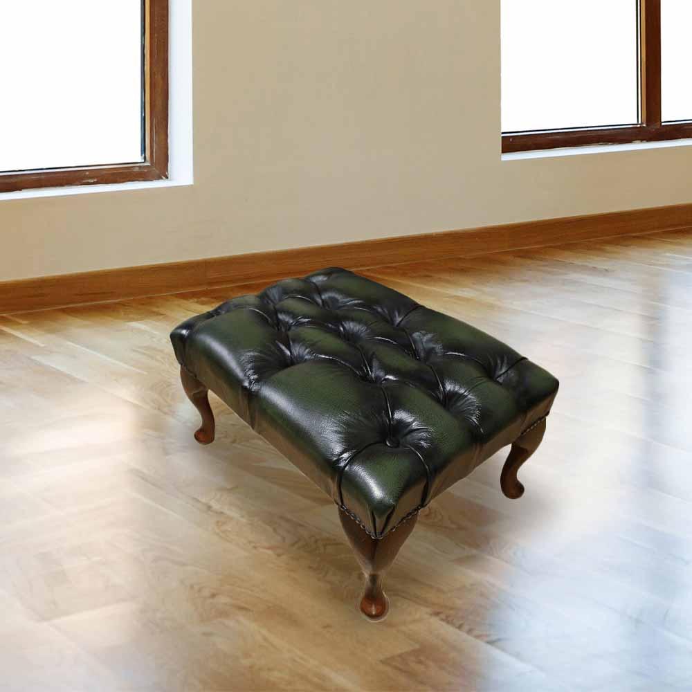 chesterfield queen anne buttoned footstool designersofas4u