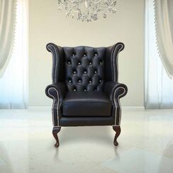 Chesterfield Crystal High Back Wing chair | DesignerSofas4U
