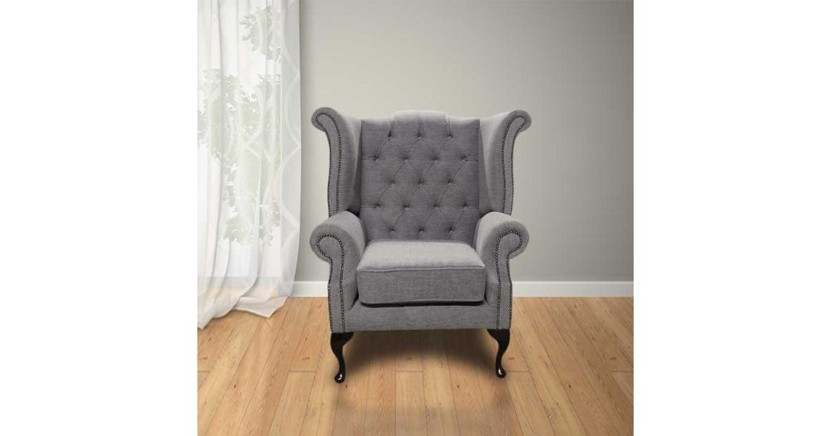 Chesterfield Fabric Newby High Back Wing Chair Verity