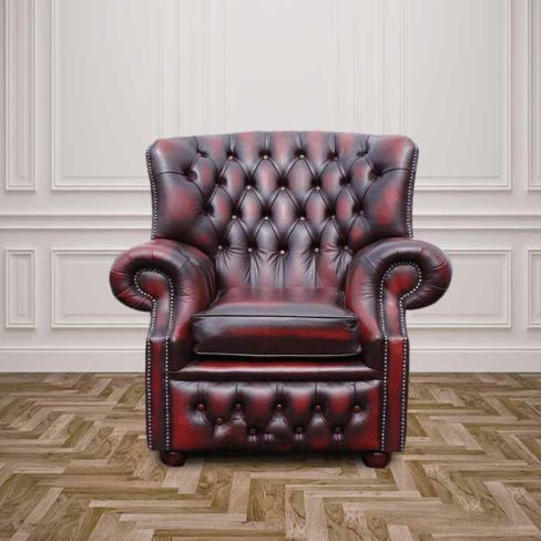 Chesterfield Monks High Back Wing Chair UK Manufactured Armchair
