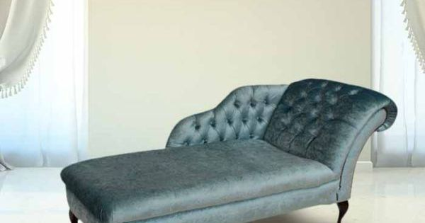 Chesterfield velvet chaise lounge day bed boutique sky for Black friday chaise lounge