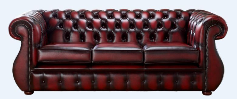 Chesterfield Kimberley Antique Oxblood Leather 3 Seater Sofa Offer