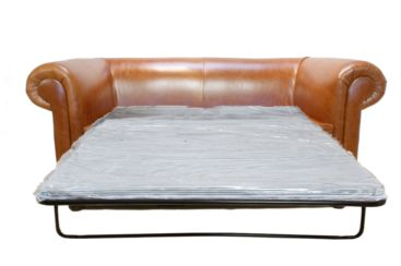Chesterfield 1930's 2 Seater Sofa Bed Old English Bruciatto
