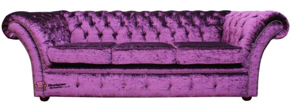 Shop Luxury Velvet Chesterfield Sofas at Designer Sofas 4U