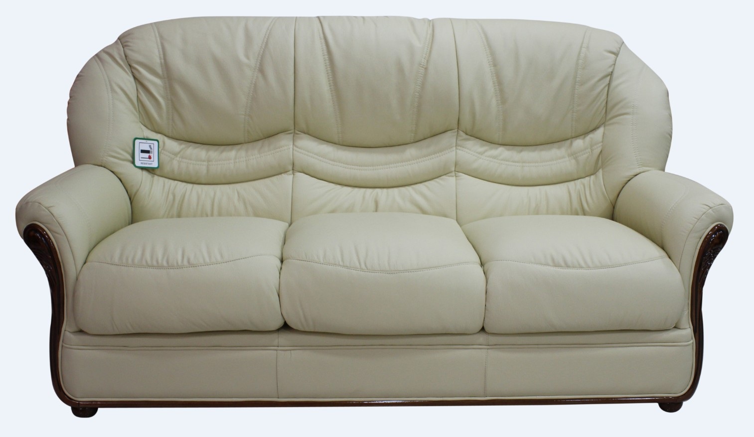Awesome Best Genuine Italian Leather 3 Seater Sofa Settee Cream Pabps2019 Chair Design Images Pabps2019Com