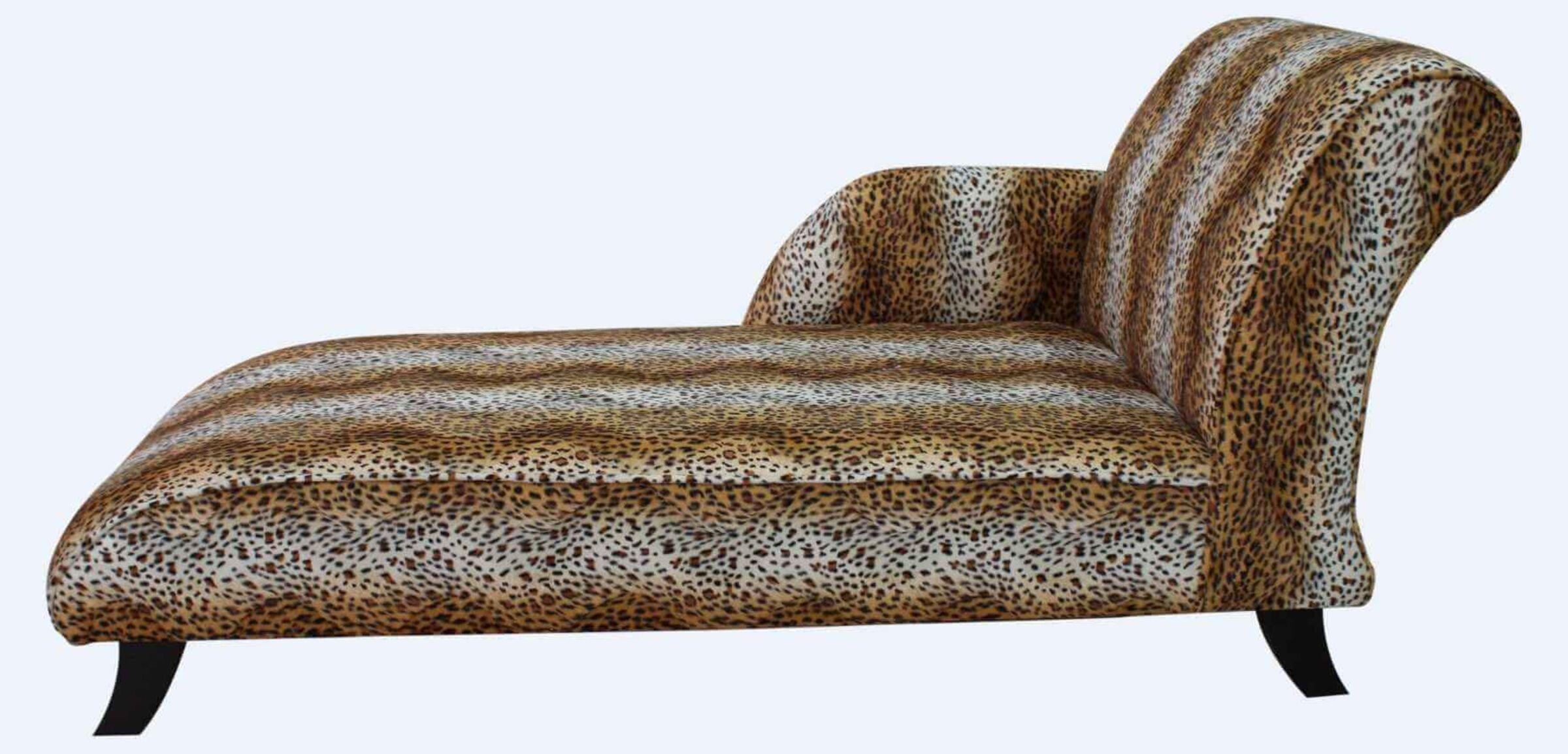 Cheetah Chaise Lounge Sofa Seat Free Warranty Designersofas4u