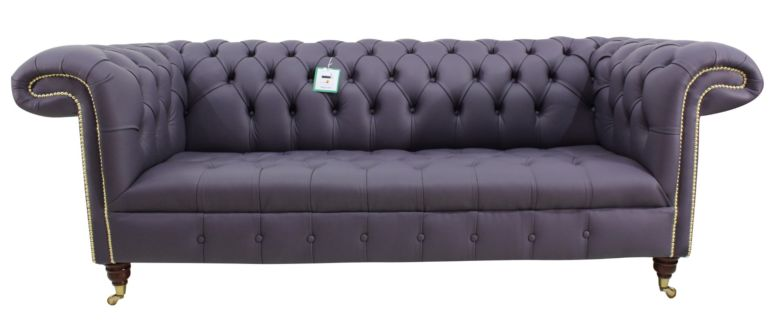 Chesterfield Regency 3 Seater Sofa Amethyst Purple Leather