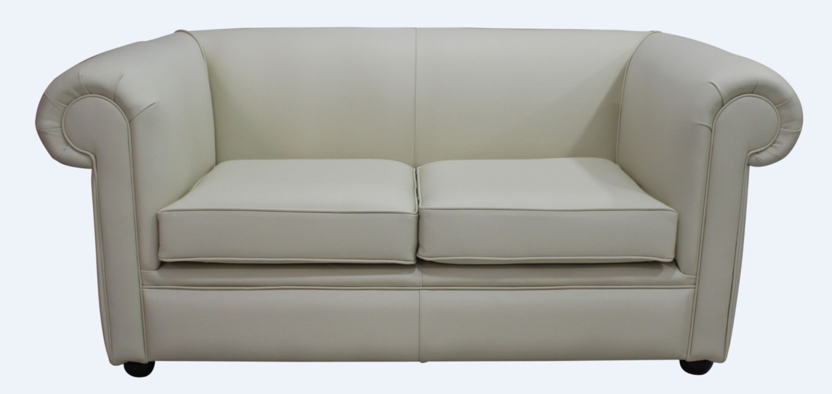 Chesterfield 1930\'s 2 Seater Settee Cream Leather Sofa