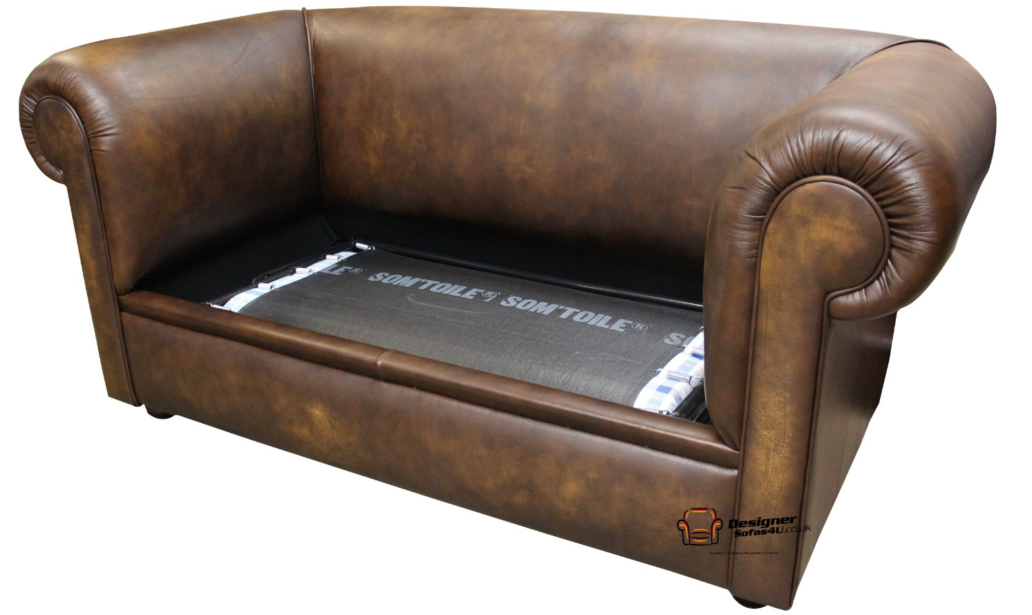 Admirable Buy 1930S Chesterfield Sofa Bed In Antique Gold Leather Dailytribune Chair Design For Home Dailytribuneorg