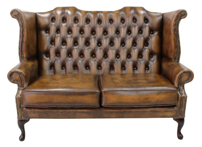 Tan Chesterfield 3 Seater High Chair   Buy online today ...