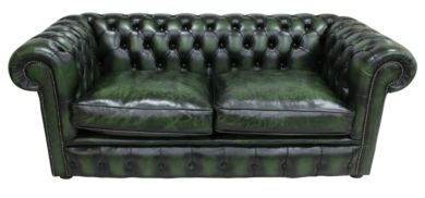 Chesterfield London 2.5 Seater Antique Green Sofa Settee Offer