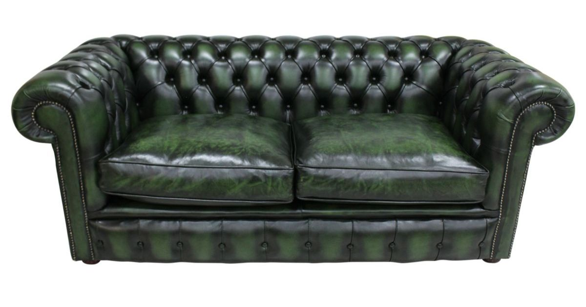Designersofas4u 2 5 Seat Green Leather Chesterfield Sofa