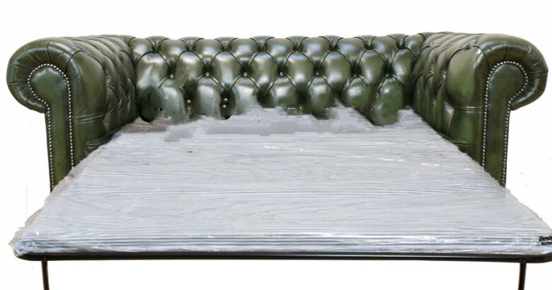2 seater sofa bed antique green
