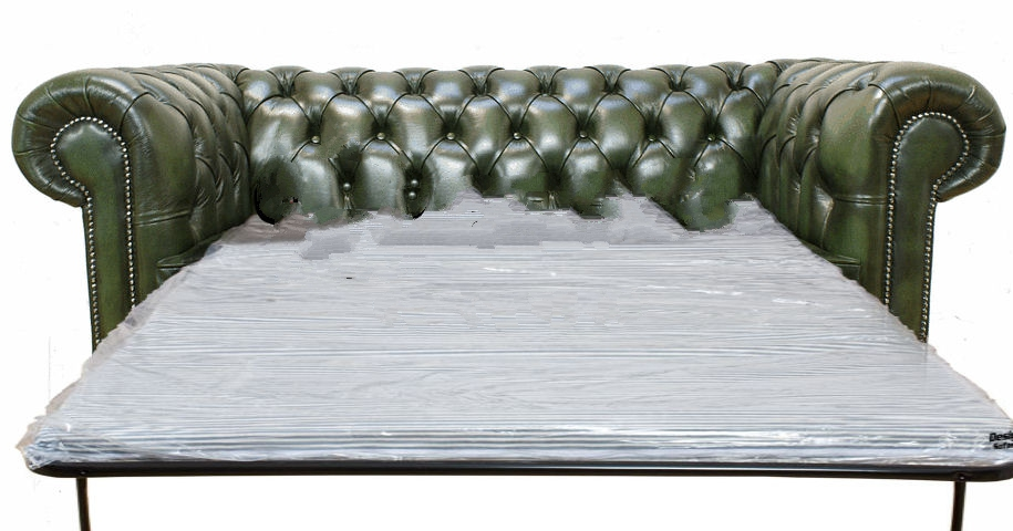 chesterfield 3 seater settee sofa bed antique green rh designersofas4u co uk antique couch bed antique kroehler sofa bed