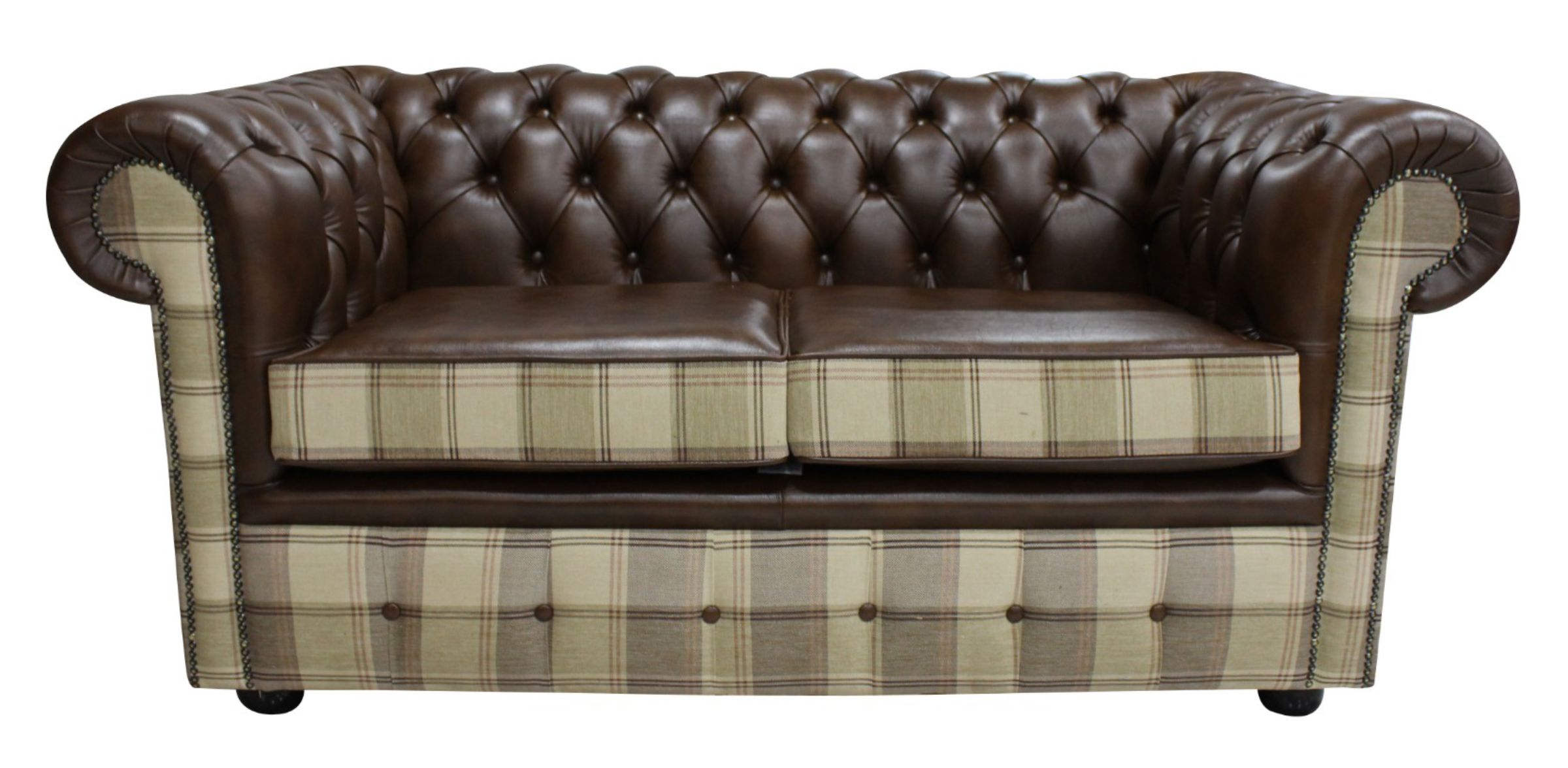 Buy Brown Leather Chesterfield Sofa Uk Designersofas4u