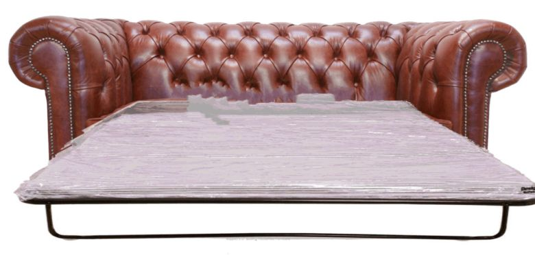 Chesterfield 2 Seater Sofa Bed Old English Chesnut