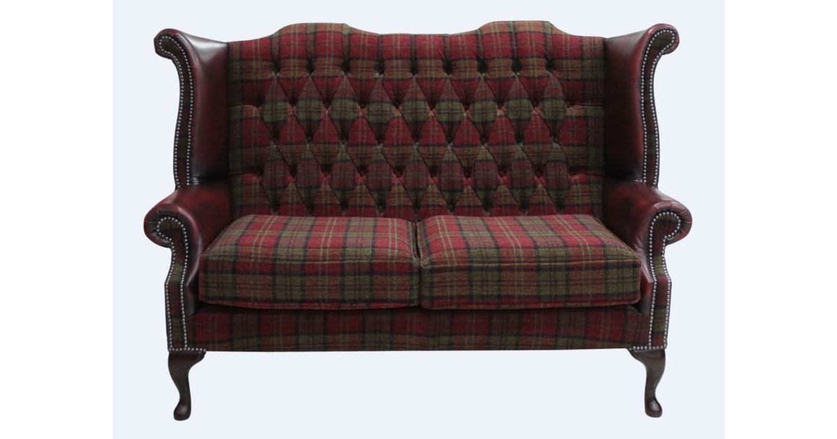 terracotta oxblood chesterfield 2 seater high back chair designersofas4u. Black Bedroom Furniture Sets. Home Design Ideas