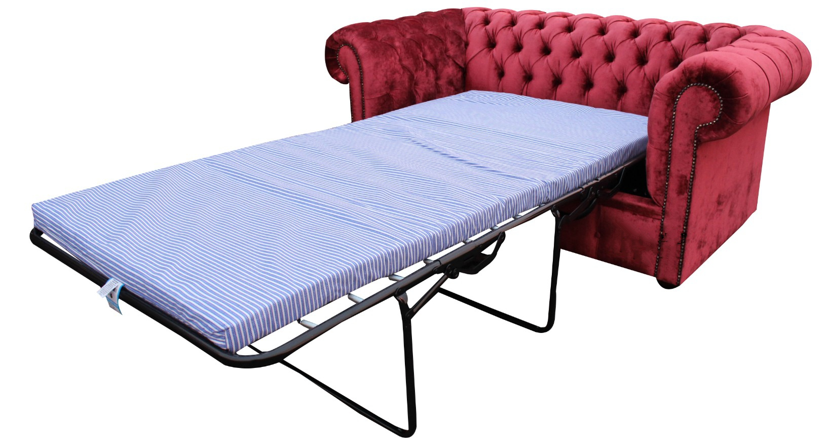 buy ruby red velvet fabric chesterfield sofa bed online. Black Bedroom Furniture Sets. Home Design Ideas