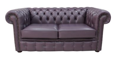 Chesterfield 2 Seater Hemmingway Blueberry Leather Sofa Offer