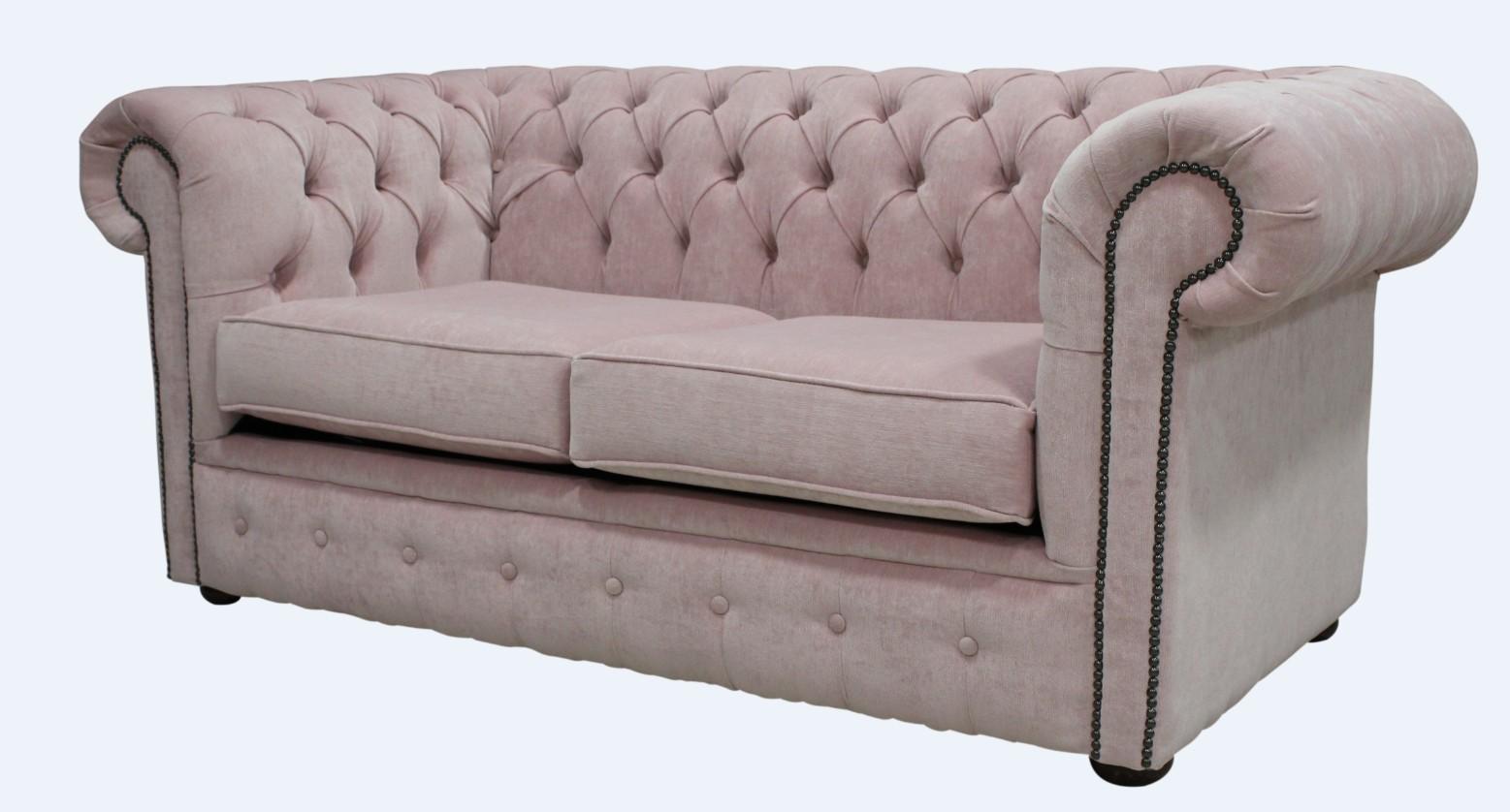 Buy Blush Pink Fabric Chesterfield Sofa Designersofas4u