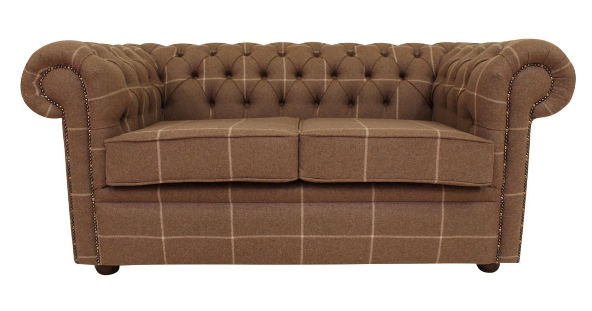 Buy hessian check wool chesterfield sofa designersofas4u for Sofa 0 finance