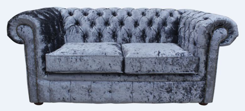 Chesterfield 2 Seater Settee Senso Dusk Velvet Sofa Offer