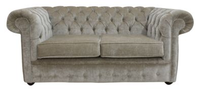 Belvedere Chesterfield 2 Seater Wool Sofa