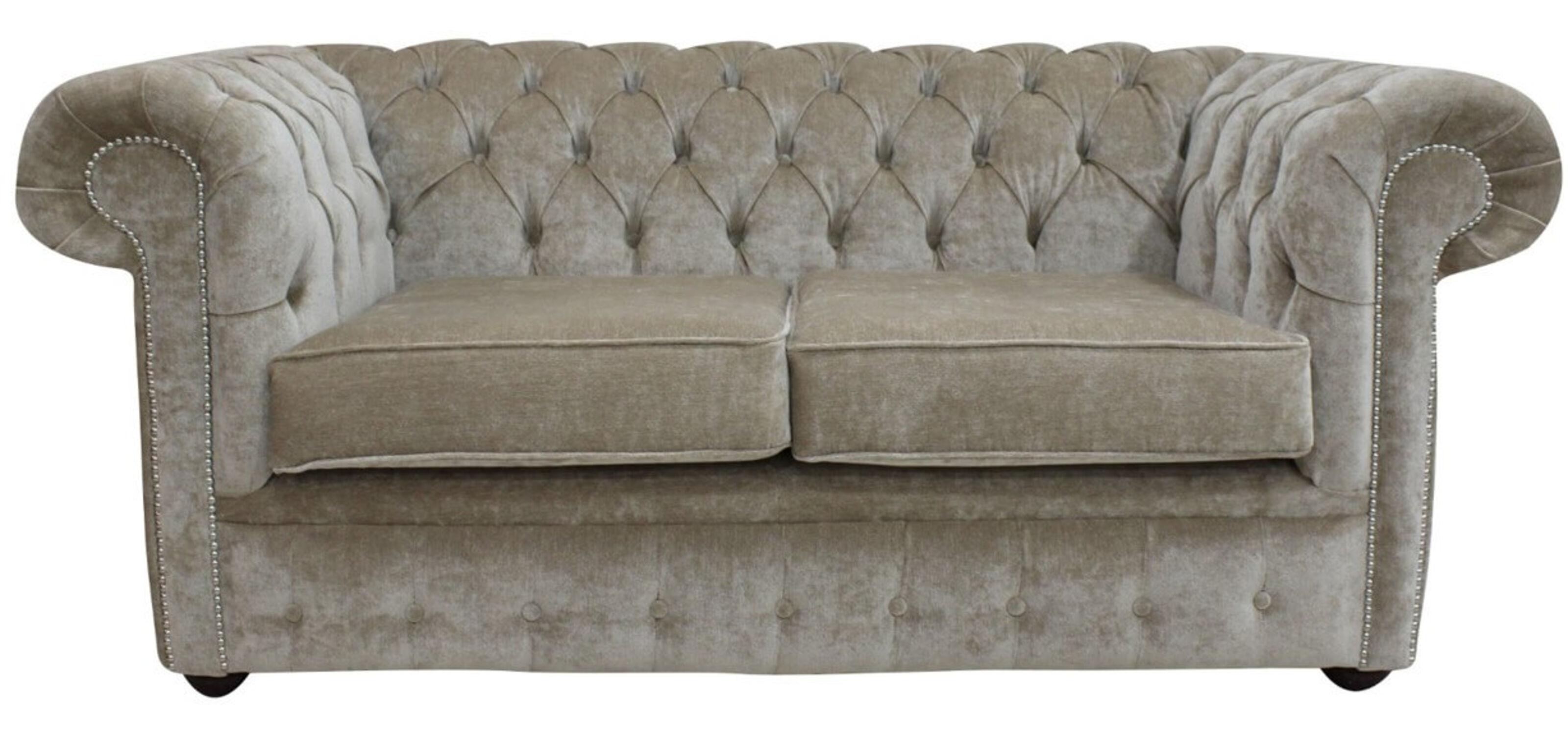 Designersofas4u 2 Seater Chiffon Velvet Chesterfield Sofa Uk
