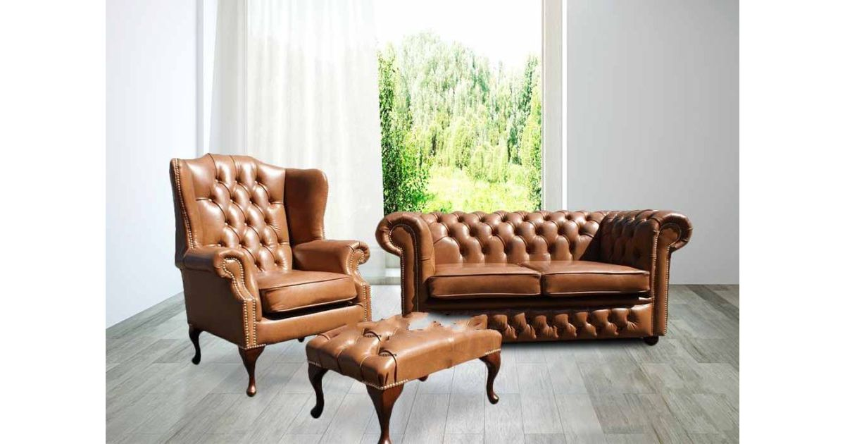 Wondrous Buy Leather Sofa Suite Brown Leather Chesterfield Furniture Designersofas4U Interior Design Ideas Oteneahmetsinanyavuzinfo