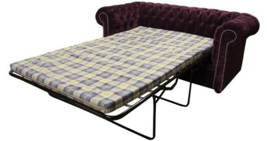 Chesterfield 2 Seater Settee Sofa Bed Velluto Amethyst Fabric