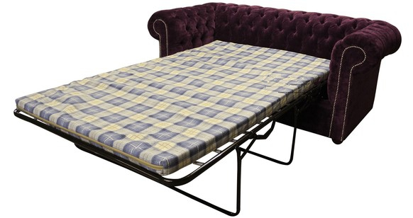 check out a51fe 7113f Buy luxury purple fabric Chesterfield sofa bed | DesignerSofas4U