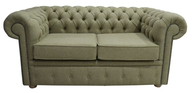 Chesterfield Arnold Wool 2 Seater Sofa Settee Glamis Opal Tweed