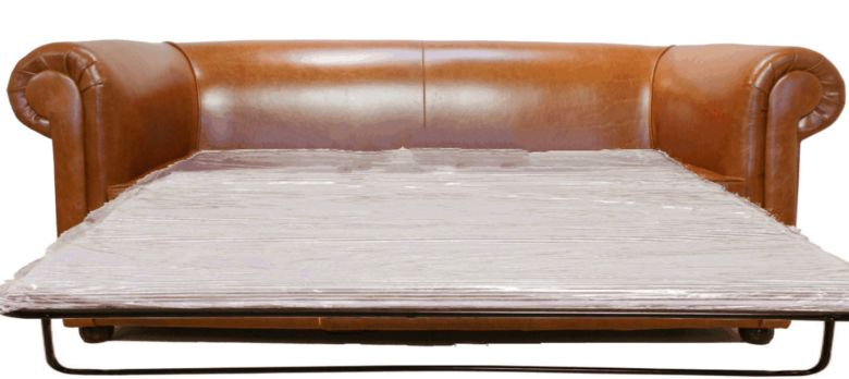 Classic Bruciato Leather Chesterfield Sofa Bed |DesignerSofas4U