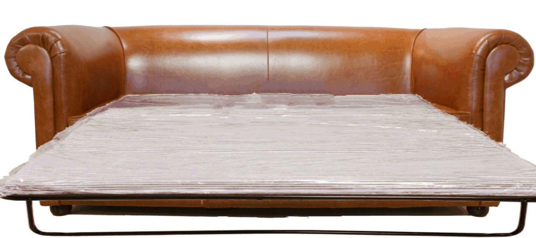 Bruciato Leather Chesterfield Sofa Bed Designersofas4u