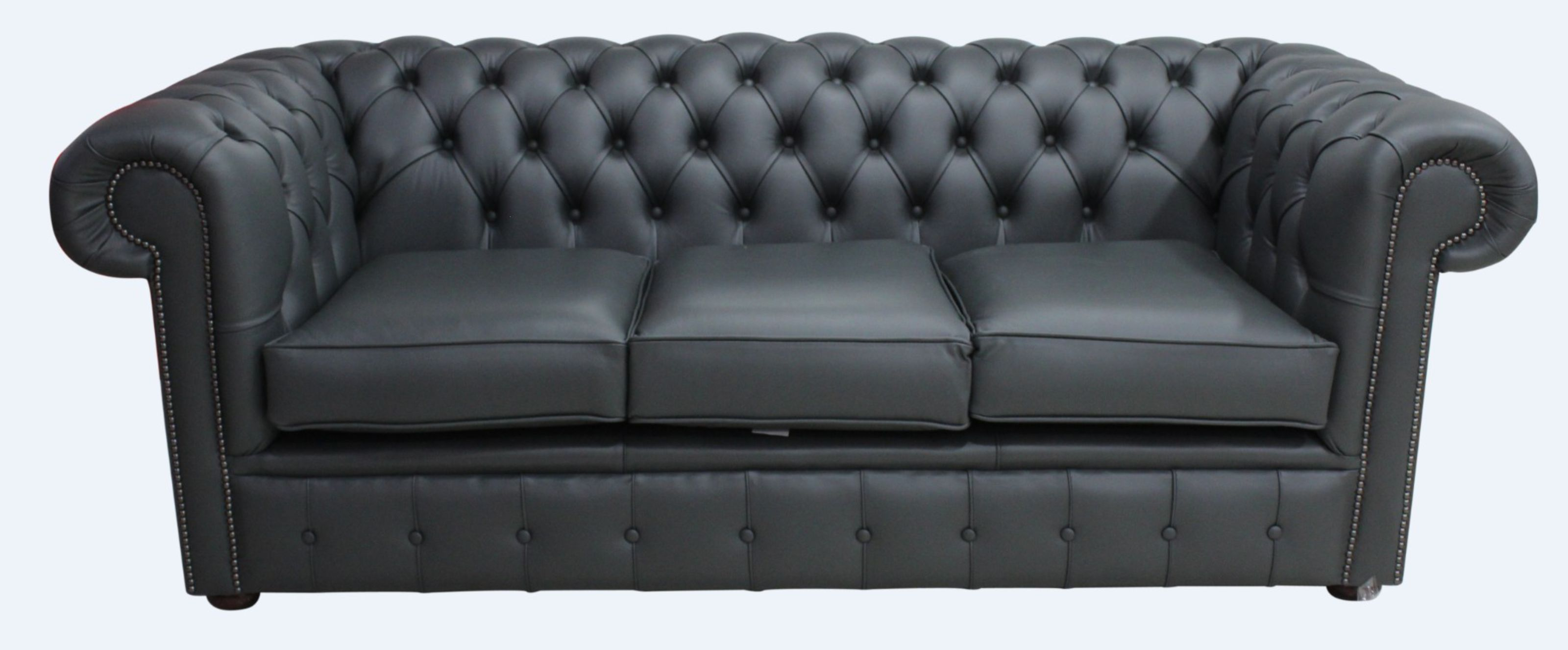 Incredible Chesterfield 3 Seater Sofa Settee Charcoal Grey Leather Sofa Offer Pdpeps Interior Chair Design Pdpepsorg