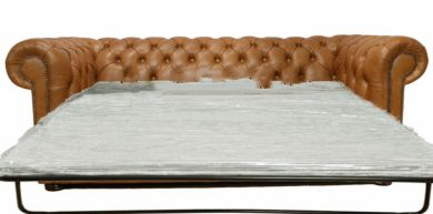 Chesterfield 3 Seater Sofa Bed Old English Tan