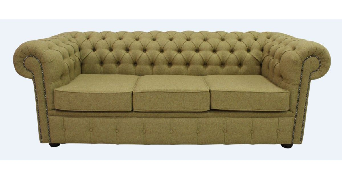 gold chesterfield arnold moons wool 3 seater sofa. Black Bedroom Furniture Sets. Home Design Ideas