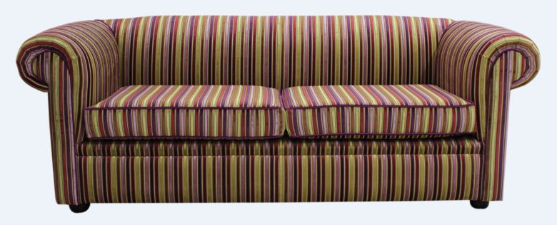 Buy stripe fabric Chesterfield sofa UK | DesignerSofas4U