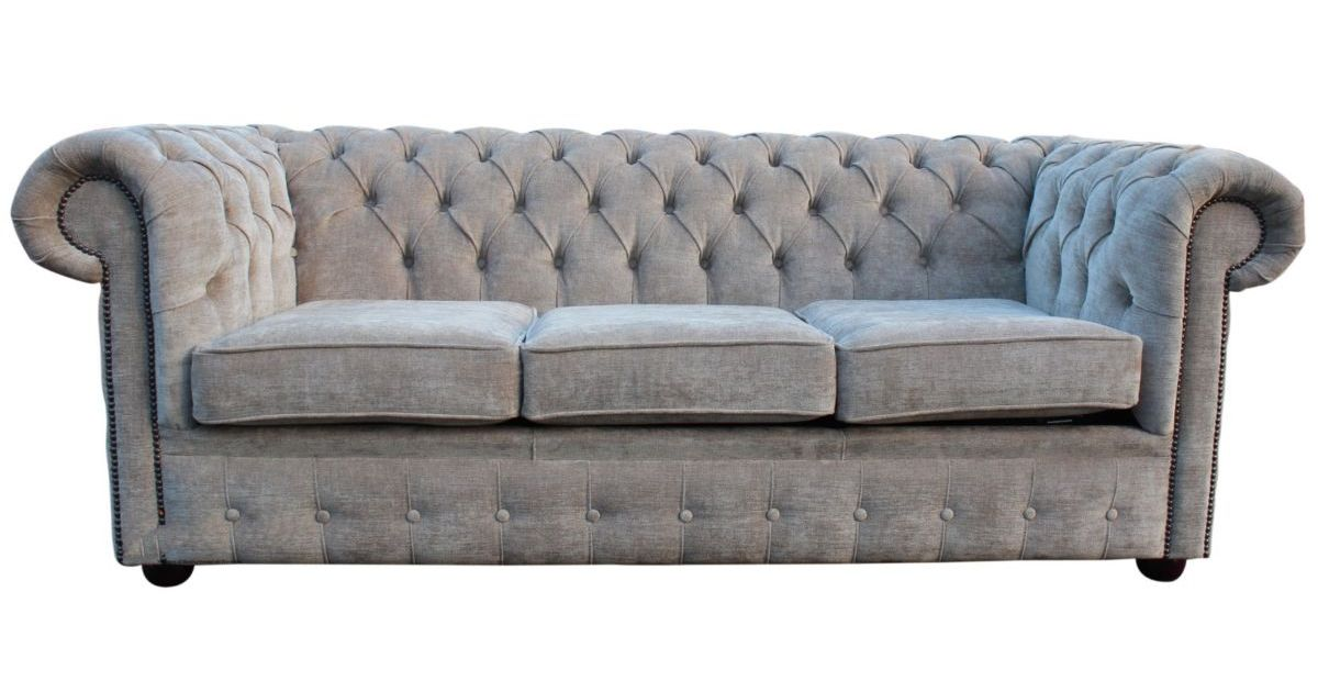 Buy mink coloured fabric chesterfield sofa bed online for Sofa 0 interest free credit