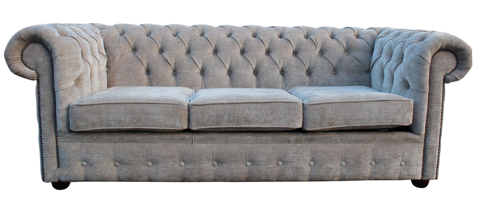 Buy mink coloured fabric Chesterfield sofa bed online : chesterfield 3 seater sofa settee ritz 2 from designersofas4u.co.uk size 1661 x 720 jpeg 566kB