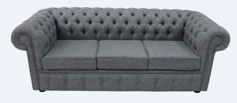 Wool Sofa Bed Settee Chesterfield Arnold 3 Seater sofa | DesignerSofas4U