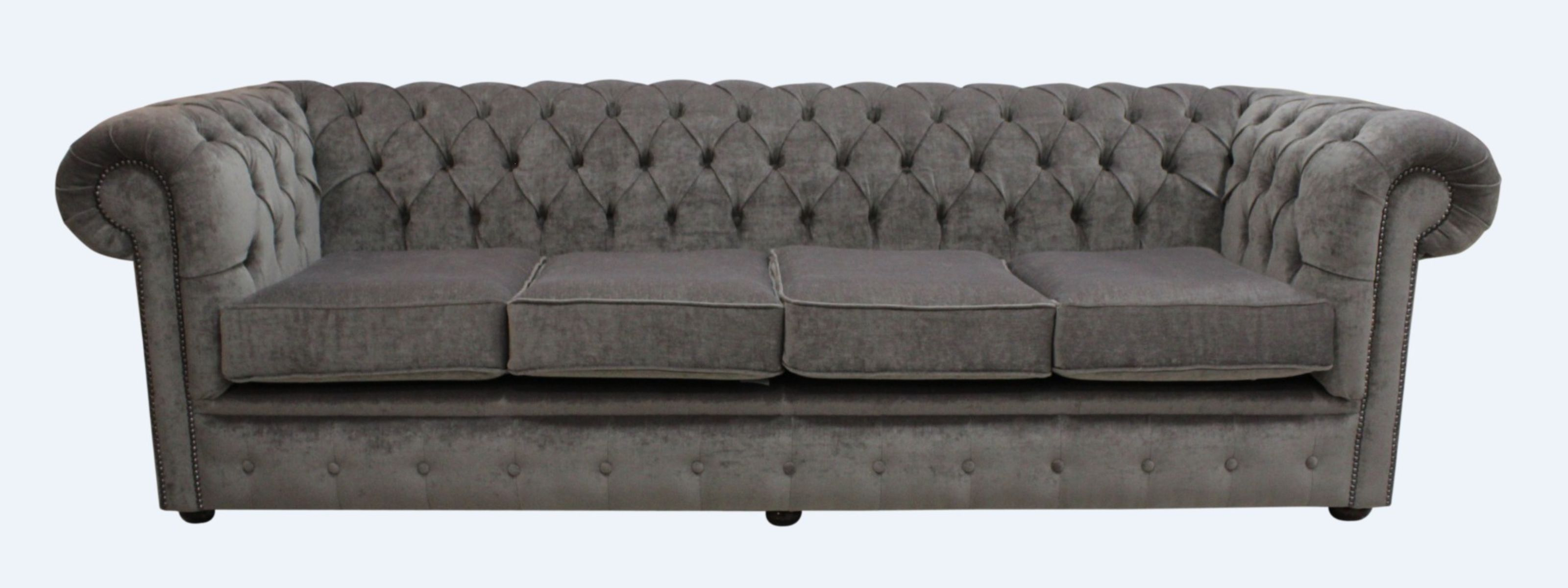 Cool Chesterfield 4 Seater Settee Pimlico Bark Fabric Sofa Offer Best Image Libraries Sapebelowcountryjoecom
