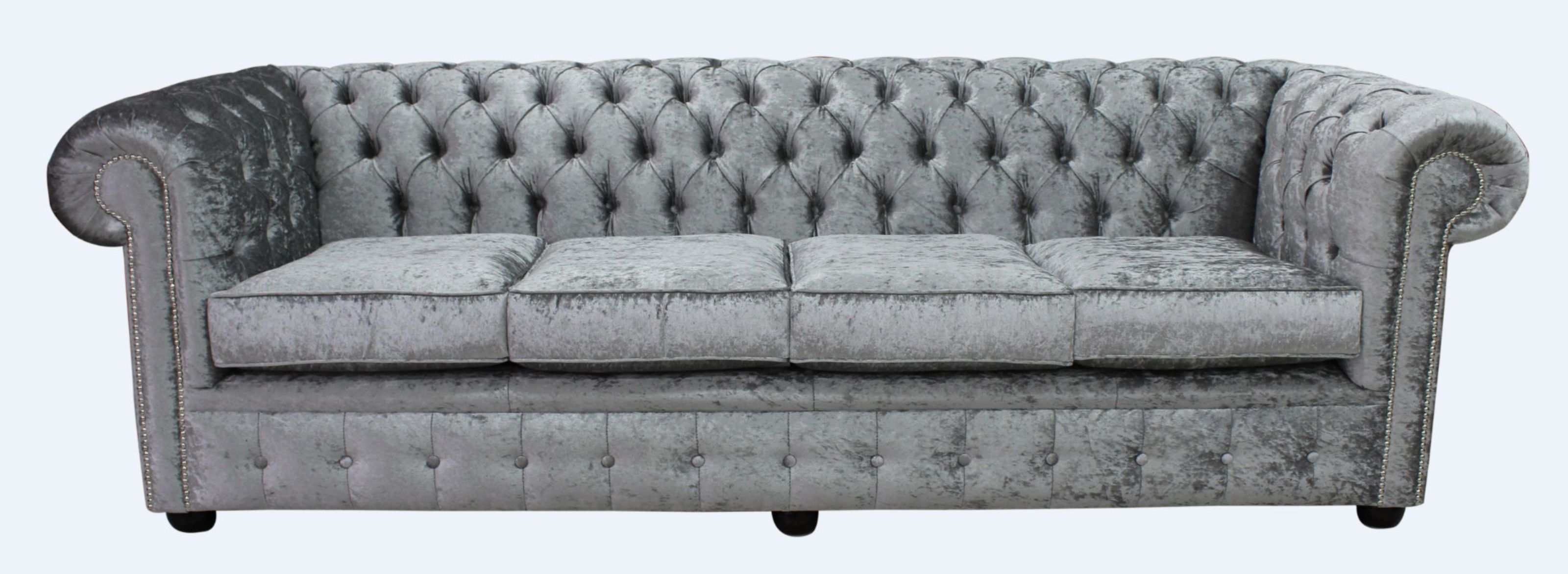 Phenomenal Large Silver Velvet Chesterfield Sofa Uk Designersofas4U Pabps2019 Chair Design Images Pabps2019Com